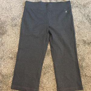 Grey Danskin Stretch Capri Pants